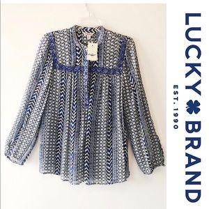 NWT Lucky Brand beaded blouse